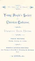 Thumbnail image of Y. P. S. C. E. 1888 Prayer-Meeting Topics cover