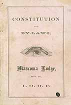 Thumbnail image of Mascoma Lodge No. 20, I.O.O.F. 1874 Roster cover