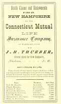 Thumbnail image of Connecticut Mutual Life Insurance Co. Death Claims in N. H. cover