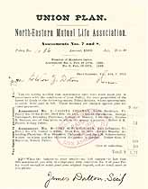 Thumbnail image of North-Eastern Mutual Life Assoc. 1875 Assessments cover