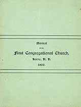 Thumbnail image of Keene First Congregational Church 1900 Manual cover