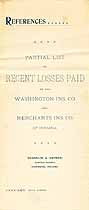 Thumbnail image of Washington and Merchants Ins. Co. 1896 Losses Paid cover