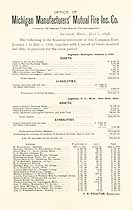 Thumbnail image of Michigan Manufacturers' Mutual Fire Ins. 1898 Report cover