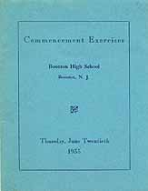 Thumbnail image of Boonton High School 1935 Graduation cover
