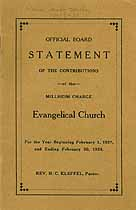 Thumbnail image of Millheim Evangelical Church 1927-28 Statement cover