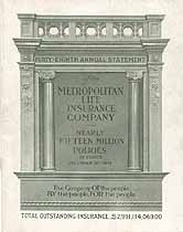 Thumbnail image of Metropolitan Life Insurance Company 48th Annual Statement cover