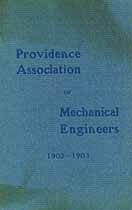 Thumbnail image of Providence Association of Mechanical Engineers 1902-1903 cover