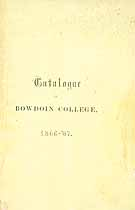 Thumbnail image of Bowdoin College 1866-67 Catalogue cover