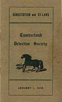 Thumbnail image of Cumberland Detective Society 1916 By-Laws cover