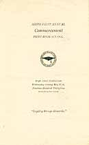 Thumbnail image of Peru High School 1931 Commencement cover
