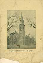 Thumbnail image of Ithaca Methodist Episcopal Church 1897 Directory cover