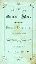 Thumbnail image of Rochester Grammar School 1883 Exercises cover