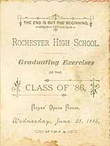 Thumbnail image of Rochester High School 1886 Graduation cover