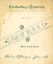 Thumbnail image of Rochester High School 1889 Graduation cover