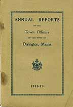 Thumbnail image of Orrington Tax List for 1918 cover