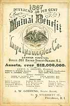 Thumbnail image of Mutual Benefit Life Ins. Co. 1867 Officers cover