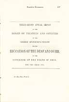 Thumbnail image of Ohio Deaf and Dumb Inst. 1858 Report cover
