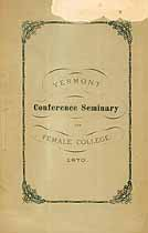 Thumbnail image of Vermont Conference Seminary 1870 Catalogue cover