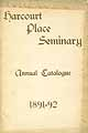 Thumbnail image of Harcourt Place Seminary 1891-92 Catalogue cover