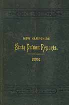 Thumbnail image of New Hampshire State Prison 1891 Report cover