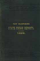 Thumbnail image of New Hampshire State Prison 1892 Report cover
