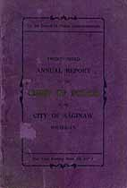 Thumbnail image of Saginaw Police Department 1913 Report cover