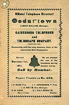 Thumbnail image of Cedartown GA 1911 Telephone Directory cover