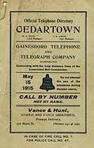 Thumbnail image of Cedartown GA 1915 Telephone Directory cover