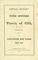 Thumbnail image of Gill, Mass. 1891 Valuation and Taxes cover