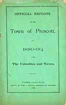 Thumbnail image of Prescott Tax List and Reports for 1889-90 cover