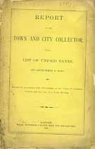 Thumbnail image of Hartford Report of Unpaid Taxes to 1889 cover
