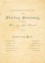 Thumbnail image of Starkey Seminary 1884 Anniversary Exercises cover