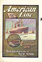 Thumbnail image of USMS St. Paul 1912 Souvenir Passenger List (Southampton to NY) cover