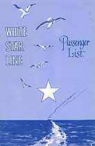 Thumbnail image of RMS Arabic 1930 Souvenir Passenger List (Liverpool to NY) cover
