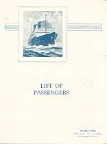 Thumbnail image of SS Siboney 1928 Souvenir Passenger List (Havana to NY) cover