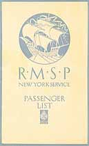 Thumbnail image of RMSP Orbita 1922 Souvenir Passenger List (Hamburg to NY) cover