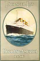 Thumbnail image of SS Ryndam 1926 Souvenir Passenger List (Rotterdam to NY) cover