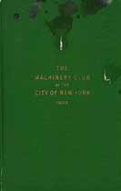 Thumbnail image of Machinery Club of New York City 1923 Members cover