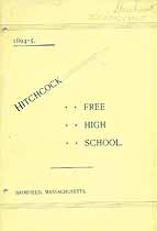 Thumbnail image of Hitchcock Free High School 1894-5 Catalogue cover