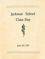 Thumbnail image of Jackman School 1917 Class Day Program cover