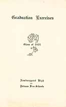 Thumbnail image of Newburyport High and Putnam Schools 1921 Graduation cover