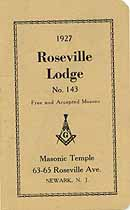 Thumbnail image of Roseville Lodge, No. 143, F. & A. M. 1927 Roster cover