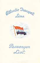 Thumbnail image of SS Minnekahda 1928 Souvenir Passenger List (London to NY) cover