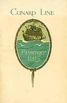 Thumbnail image of RMS Scythia 1929 Souvenir Passenger List (Liverpool to NY) cover