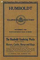 Thumbnail image of Humboldt Iowa 1928 Telephone Directory cover