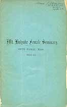 Thumbnail image of Mt. Holyoke Female Seminary 1854 Catalogue cover