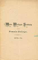 Thumbnail image of Maine Wesleyan Seminary 1878-79 Circular cover
