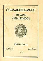 Thumbnail image of Ithaca High School 1930 Commencement cover