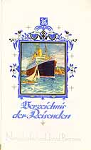 Thumbnail image of Dresden 1928 Souvenir Passenger List (Bremen to NY) cover
