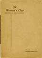 Thumbnail image of Patterson Woman's Club 1921-22 Year Book cover